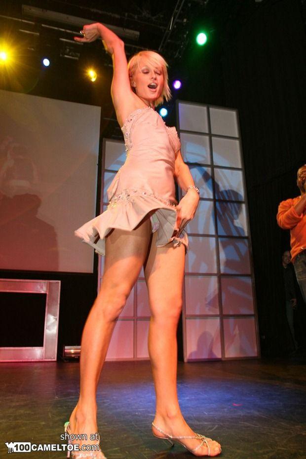 Female celebrity upskirt