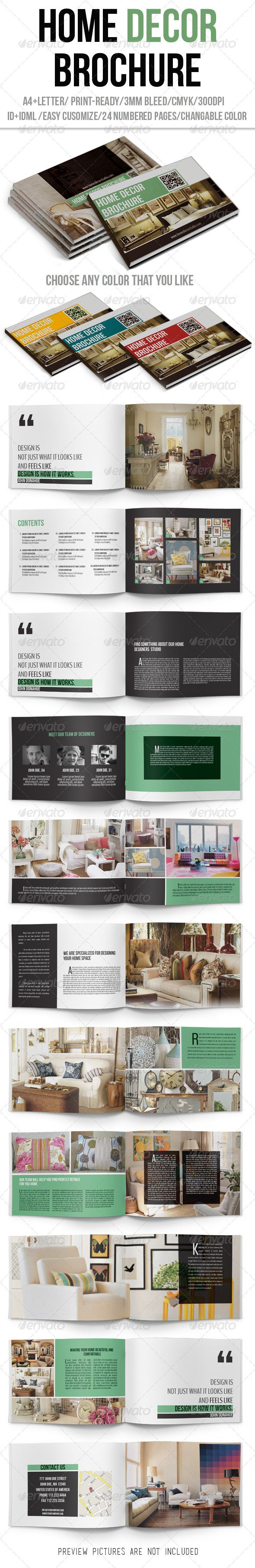Home Decor Brochure Catalogs Brochures Brochure Design Graphic