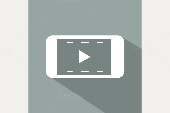 Check out Flat Video icon by robuart on Creative Market