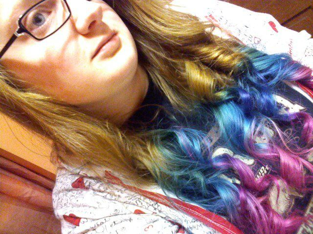 Multi Hair Color Styles: Splat Dip-dye / Ombre