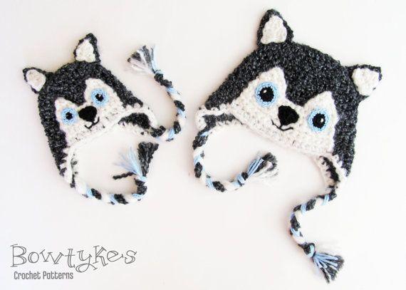 Wolf Earflap Hat CROCHET PATTERN instant download | crochet ...