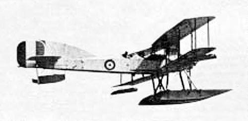 RNAS (Royal Naval Air Service) Short S184 torpedo bomber and reconnaissance seaplane.