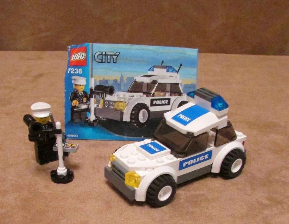 7236 Lego City Police Car Complete Instructions Blue Stickers Speed Trap Town Lego City Police Lego City Police Cars