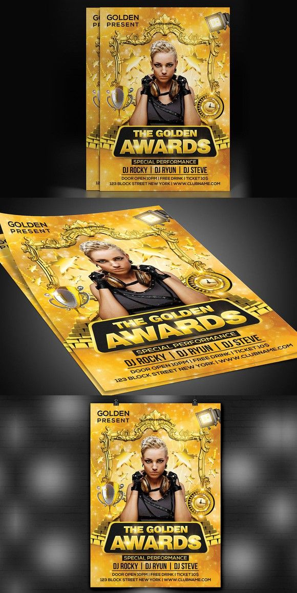 Golden Awards Flyer Flyer Template And Template