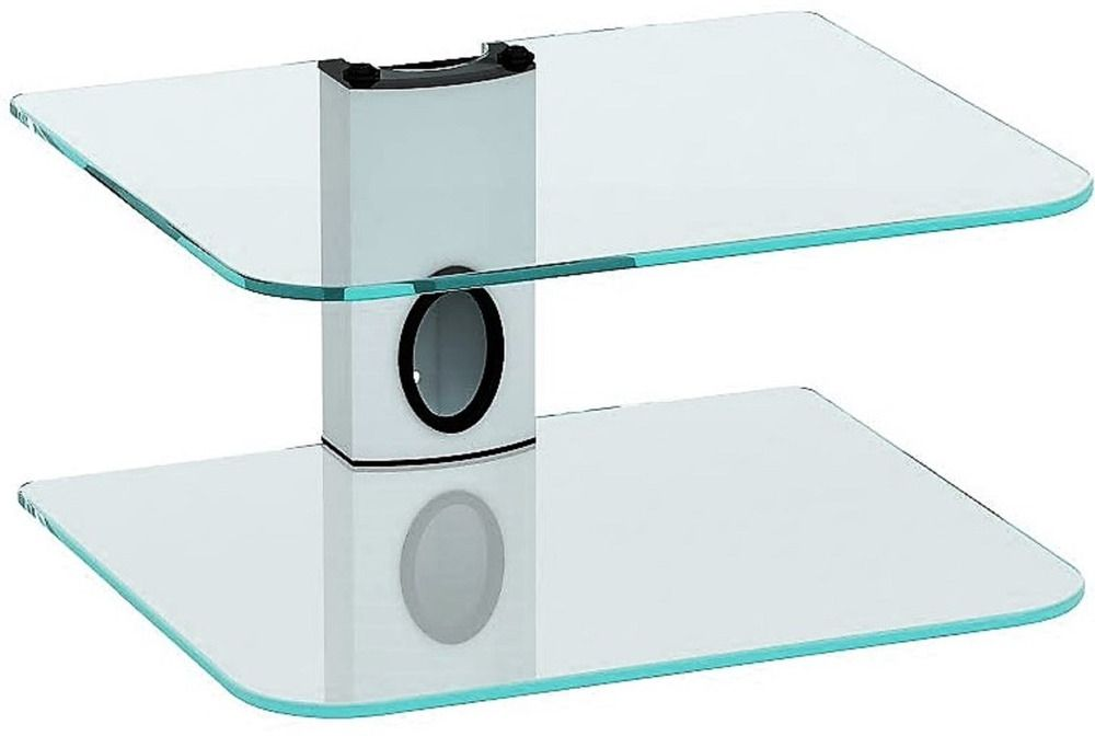 Gold Line 2 X White Floating Shelves With Strengthened