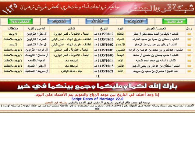 مواعيد زواجات أبناء وبنات الجعفر لعام 1435 هـ 10 Things Website Jar