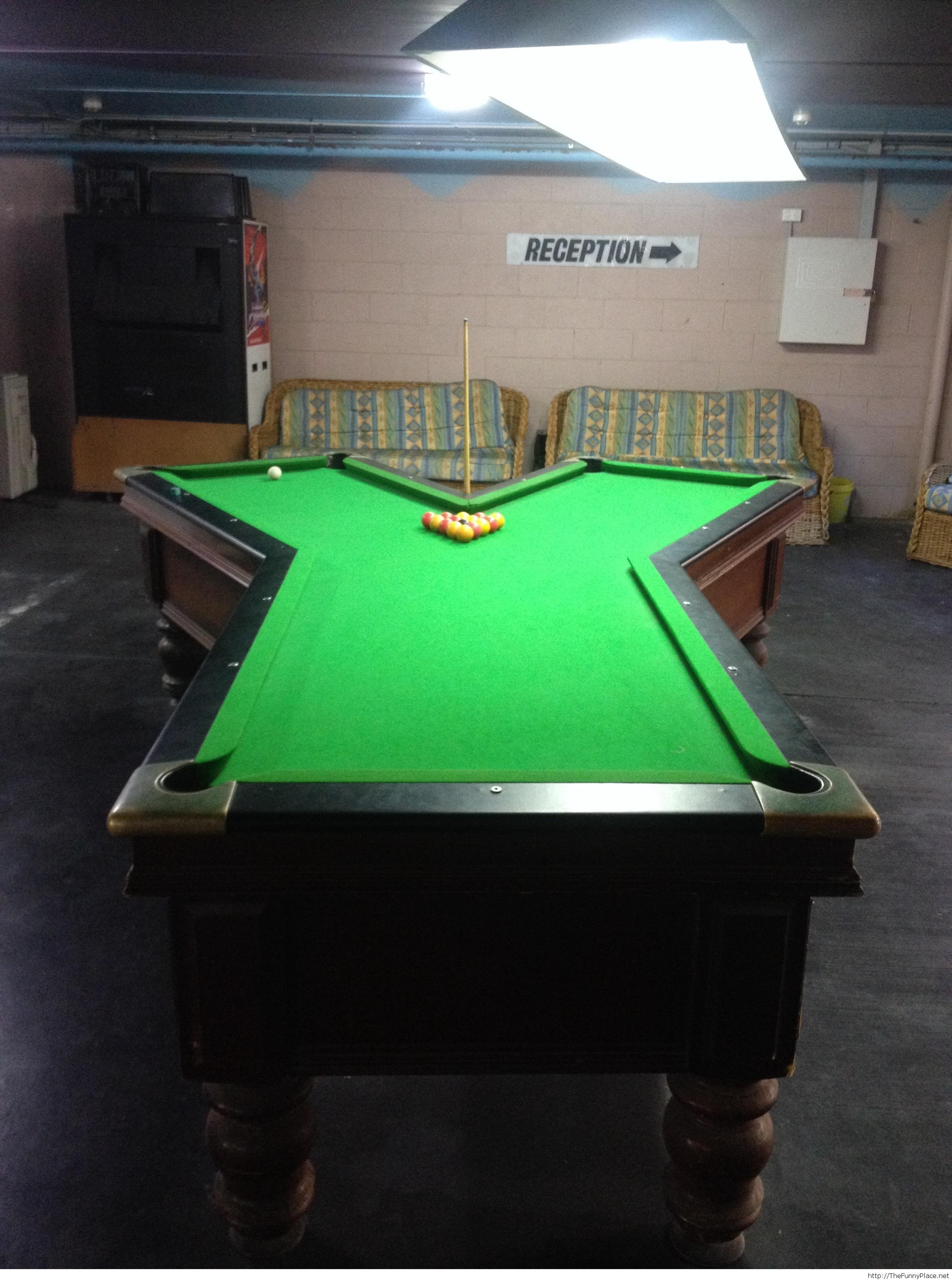 Bizarre shaped Pool Table. billiards pooltable 8ball