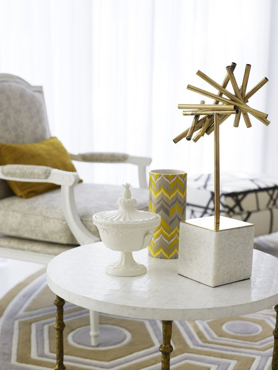 #home-decor, #side-table, #brass  Interior Design: Greg Natale - gregnatale.com/ Photography: Anson Smart - ansonsmart.com  Read More: http://www.stylemepretty.com/living/2013/03/06/greg-natale-home-tour/