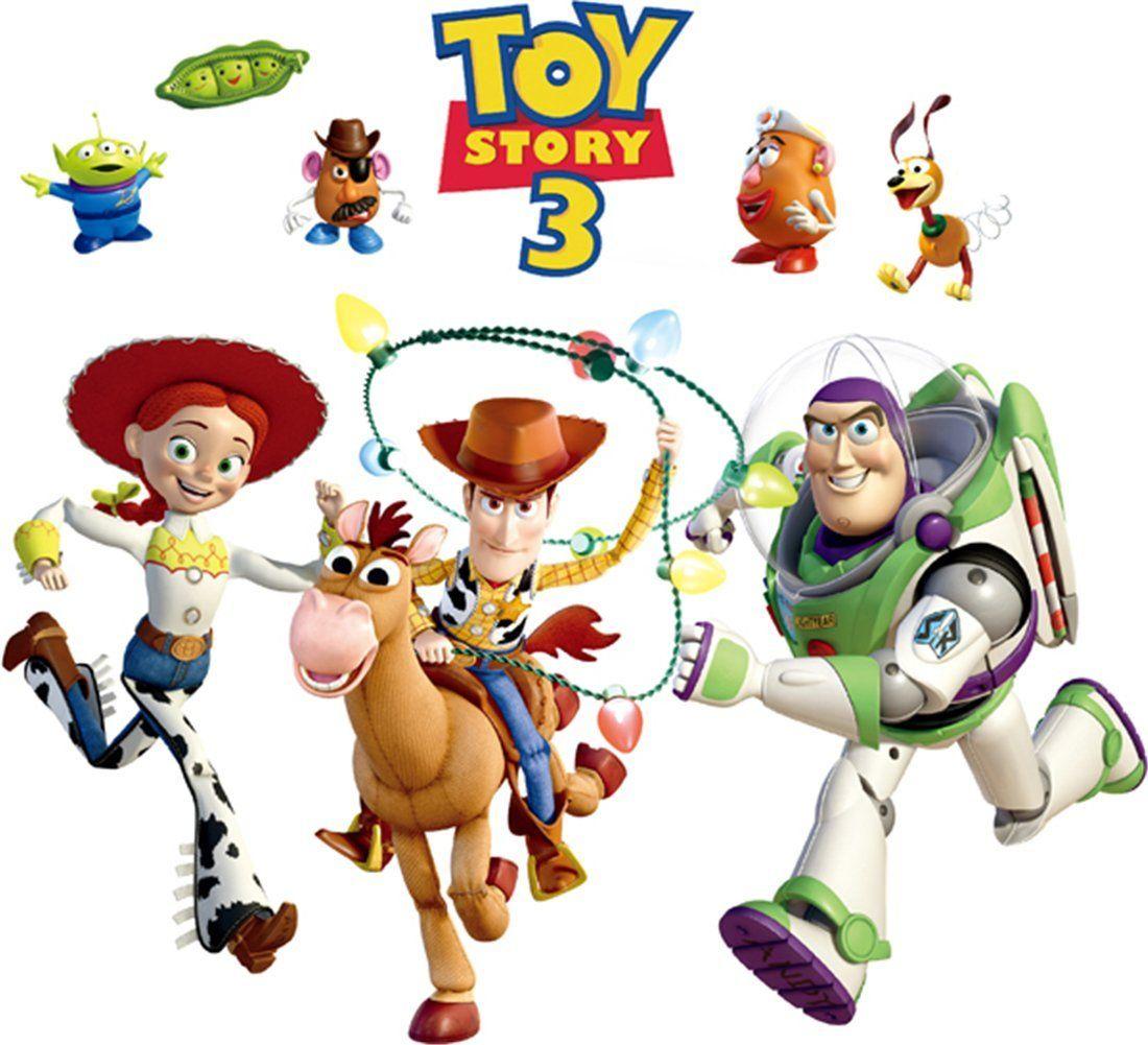 Cartoon toy story buzz lightyear wall stickers diy mural for Buzz lightyear wall mural