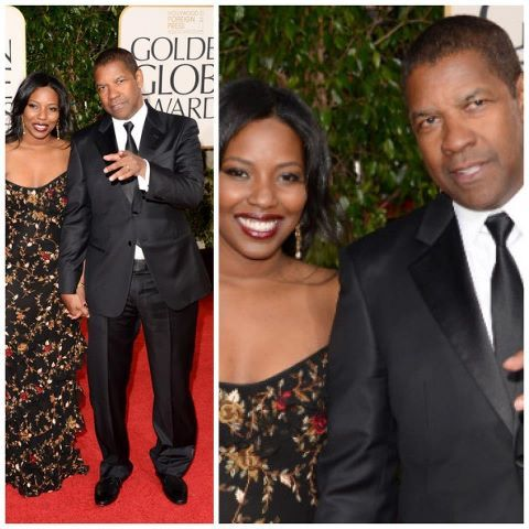 Beautiful Actress Olivia Washington And Her Dad Denzel Washington At The 2013 Golden Globes In Holl Denzel Washington Celebrity Stars Like Father Like Daughter