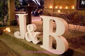 Resultado de imagen para letras grandes para decorar bodas L Y d