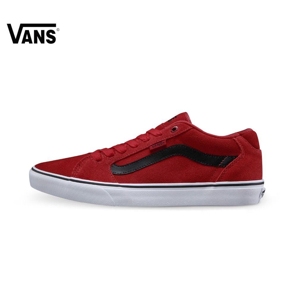 D'origine Vans Rouge Couleur Planche À Roulettes de Bas-Top Hommes  Chaussures Sport Chaussures Sneakers