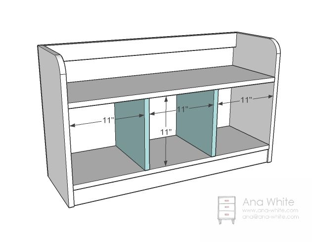Good Cubby Bench Plans Jan 11 2011 A Perfect Cubby Bench Featuring Three Cubbies  Sized To Fit