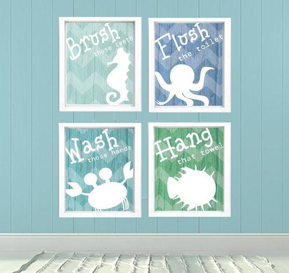 Under The Sea Bathroom Decorations Printable Decor Framed Prints
