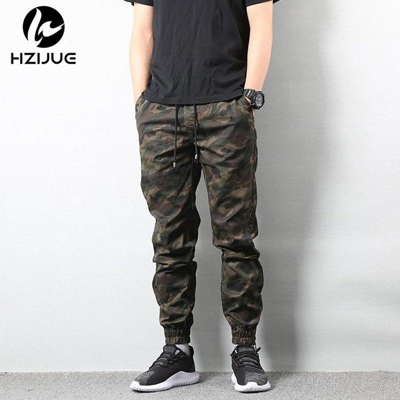 Mens Camo Cargo Overall Hip Hop Loose Trousers Pocket work Casual Tapered Pants