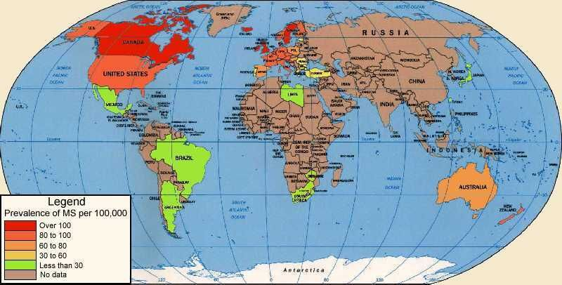 World map of prevalence of multiple sclerosis multiple sclerosis world map of prevalence of multiple sclerosis gumiabroncs Gallery