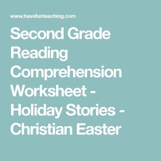 Christian Easter Reading Comprehension Worksheet   Reading ...