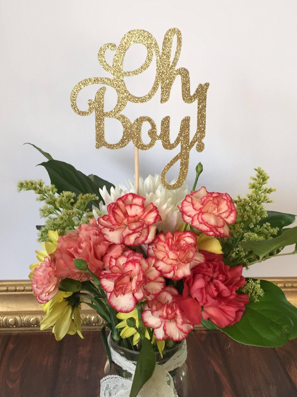 Oh Boy Centerpiece Sticks Baby Boy Table Decorations Baby Etsy Boy Baby Shower Centerpieces Baby Shower Centerpieces Baby Boy Decorations