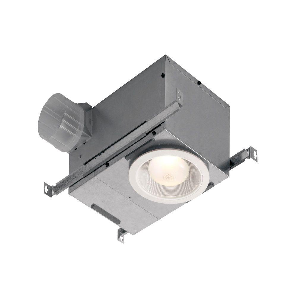 Nutone 70 Cfm Recessed Ceiling Bathroom Exhaust Fan With Led Light
