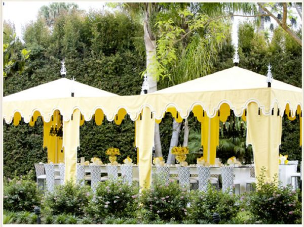 Good Gracious Events – Los Angeles. Great color combo, yellow and grey.