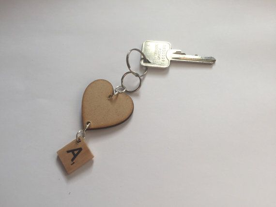 These Scrabble letter keyrings are great as a simple gift or as