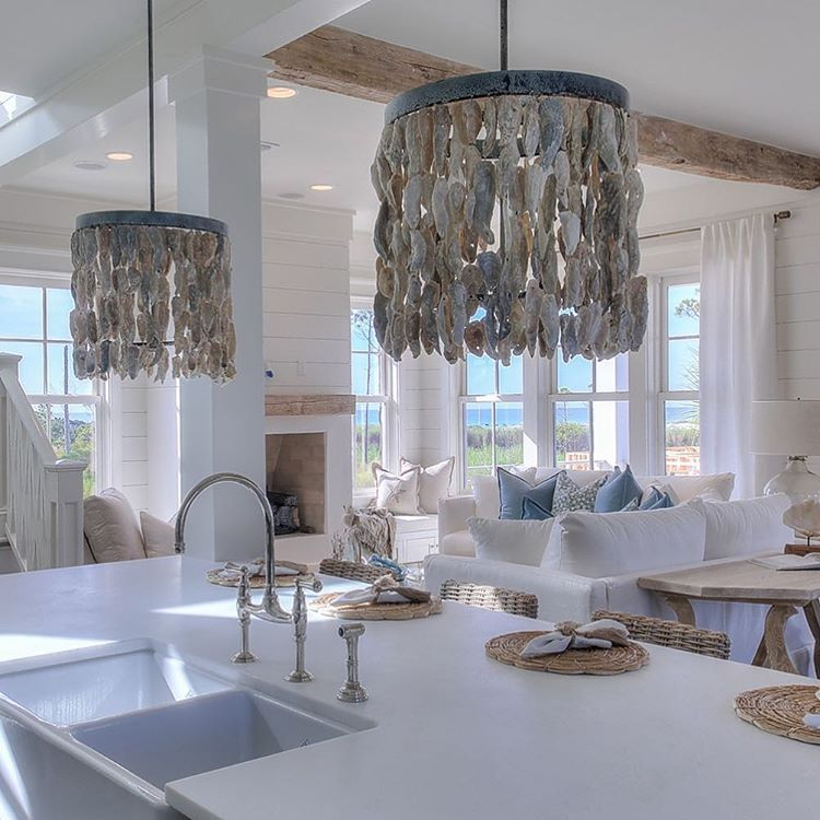 Obsessed with these oyster shell chandeliers from beauhomeinteriors obsessed with these oyster shell chandeliers from beauhomeinteriors tag me at ourcoastalfarmhouse with aloadofball Image collections