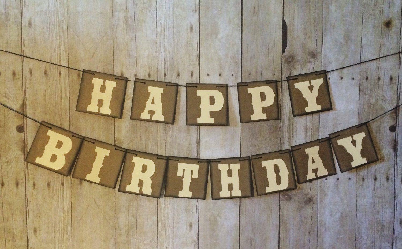 Happy Birthday Banner, Personalized Birthday Banner, Boy Birthday