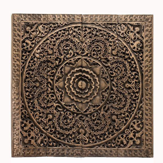 thai wood wall art - Google Search | Wood | Pinterest | Wood wall ...