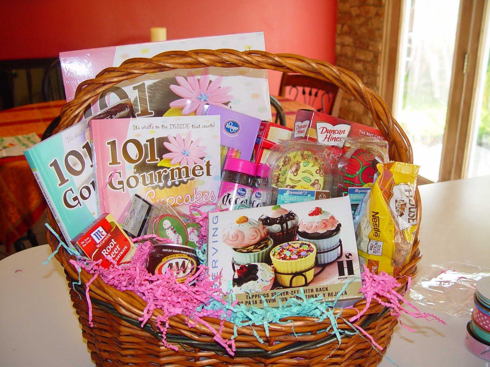 """Silent Auction Basket theme: """"Cupcake baking"""" 101 Gourmet ..."""