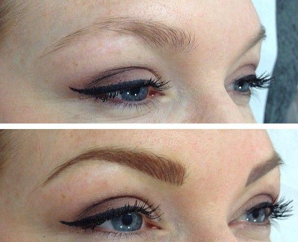 Eyebrow Tattoo After One Week Cosmetic Tattoo Tattoed Eyebrows Eyebrow Tattoo
