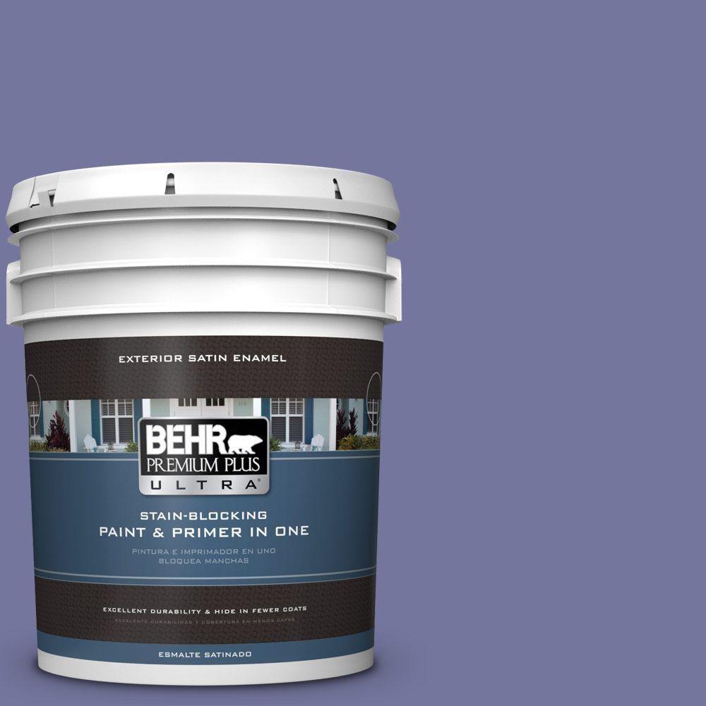 BEHR Premium Plus Ultra 5-gal. #M550-6 Kimono Violet Satin Enamel Exterior Paint