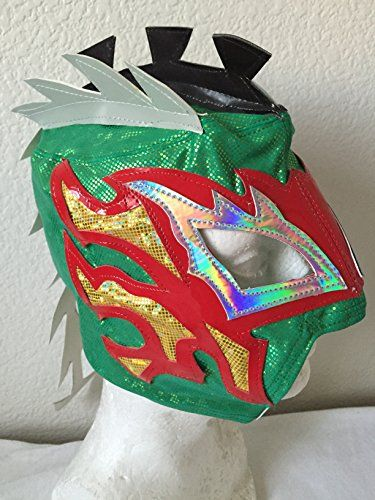 golden kalisto childrens zip up wrestling mask wrestling masks uk