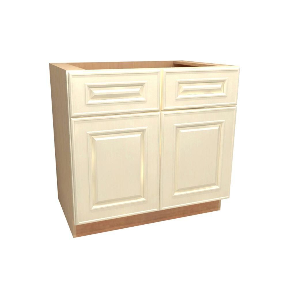 Home Decorators Collection 36x34 5x24 In Holden Assembled Sink Base Cabinet With False Drawer Front In Bronze Base Cabinets Cabinet Home Decorators Collection
