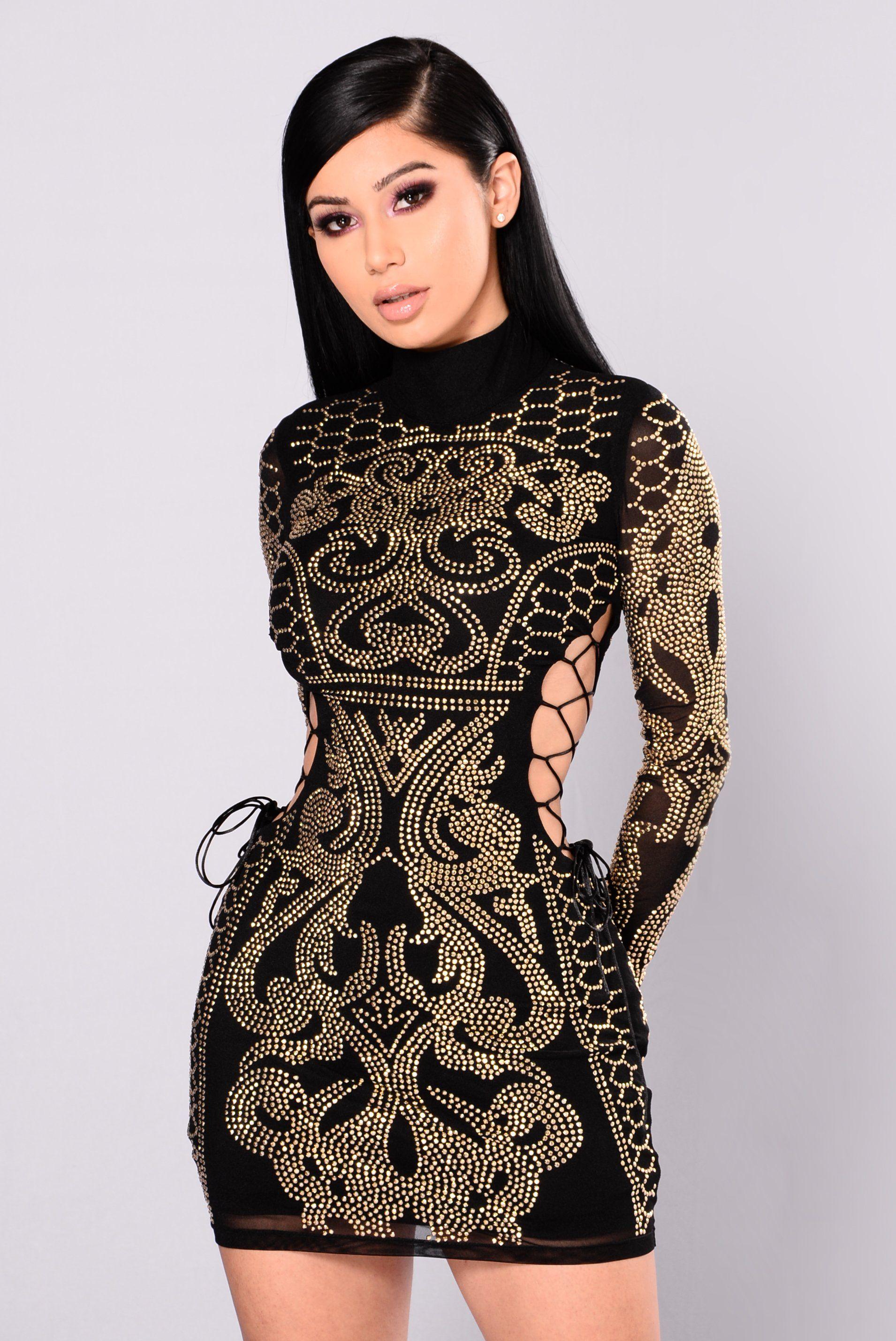 Dynasty Studded Dress Black in 2020 Studded dress