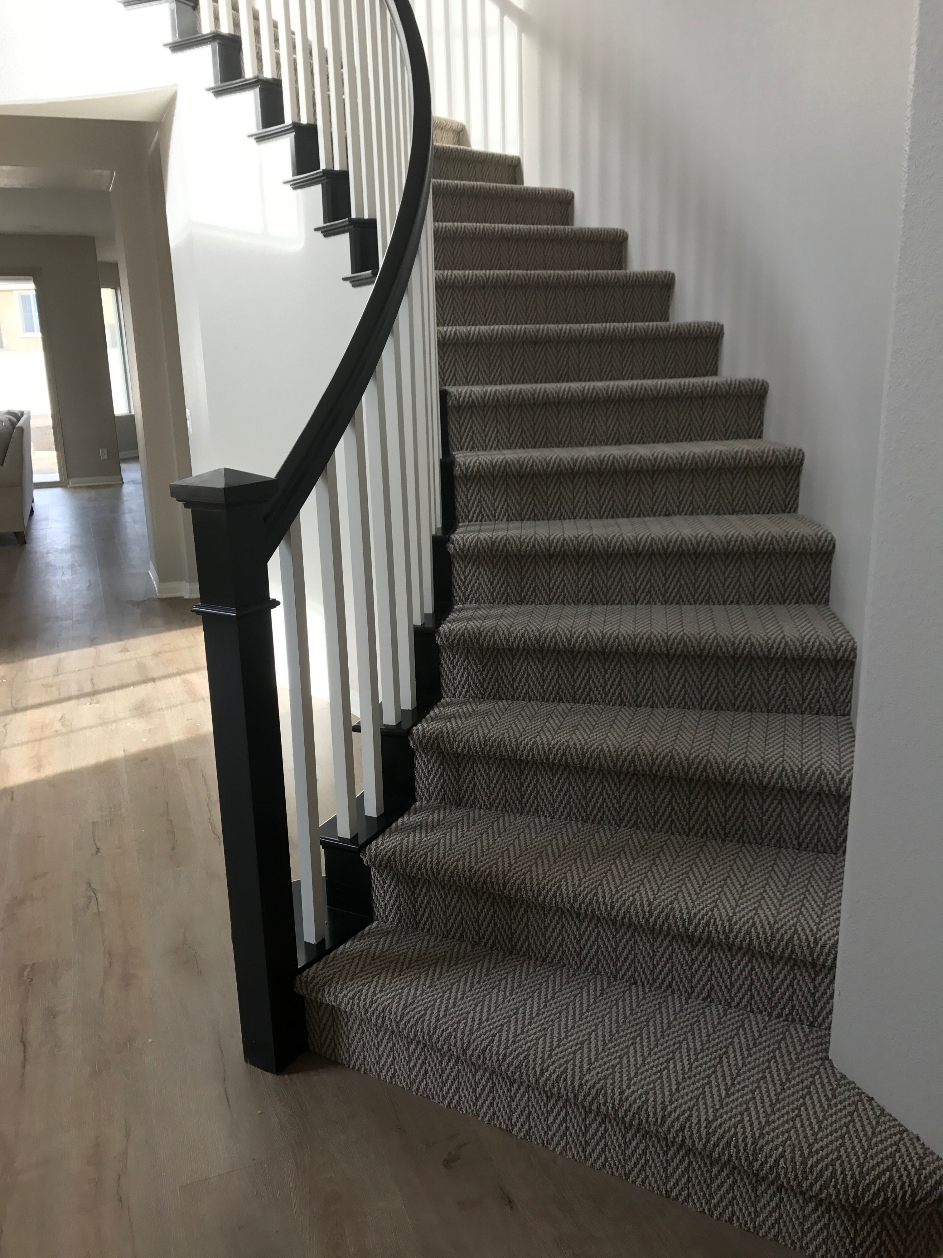 Amazing Herringbone Stairway Carpet. Best Stair Carpet For High Traffic Areas.  Tuftext Carpet By Shaw.