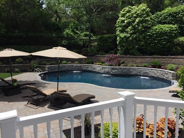 This Space Features A Gorgeous Pool Patio Made With Cambridge