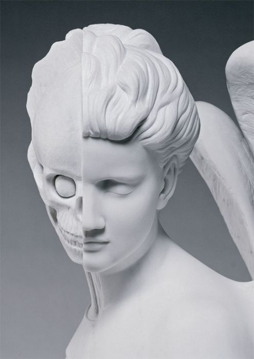 Damien Hirst, anatomy of an angel - postcard