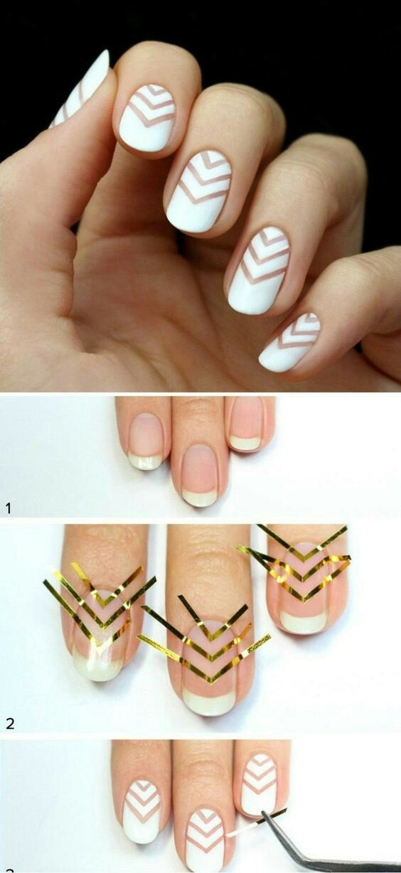 Easy Striped Nail Art For Beginners With Nail Striping Tape Nail Art For Beginners Nail Art Diy Simple Nails