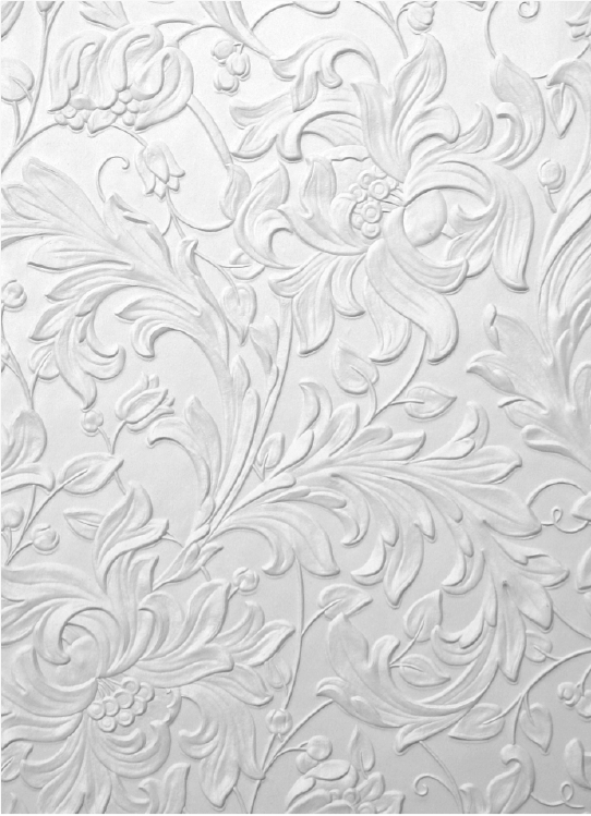 Kelmscott lincrusta little gothic cottage mood board for Cheap plain white wallpaper