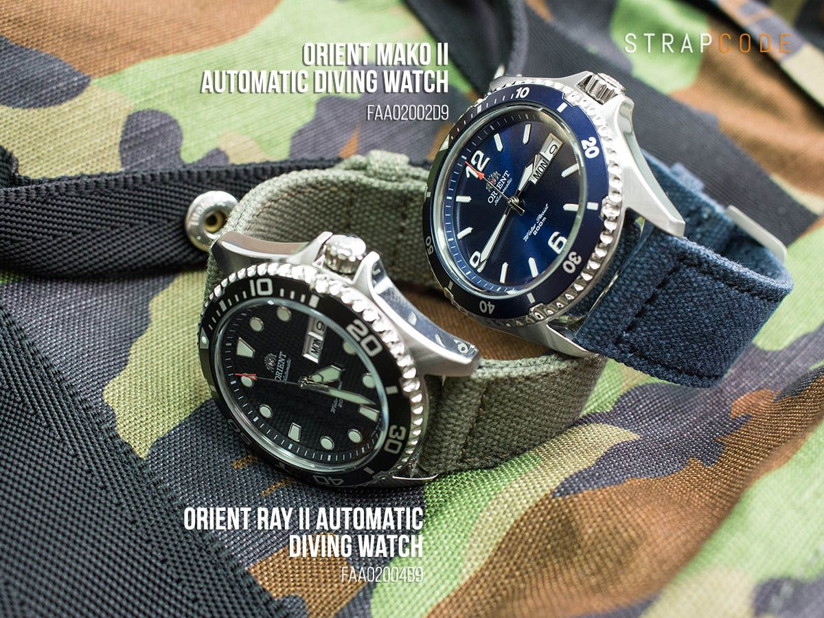 2a04c45be5 A quick comparison of the new Orient Ray II Automatic Diving Watch  FAA02004B9 and Orient Mako II Automatic Diving Watch FAA02002D9 Different  fonts on the ...