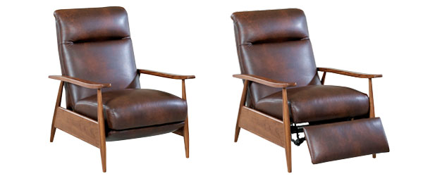 Peter Mid Century Modern Leather Recliner Chair | Mid