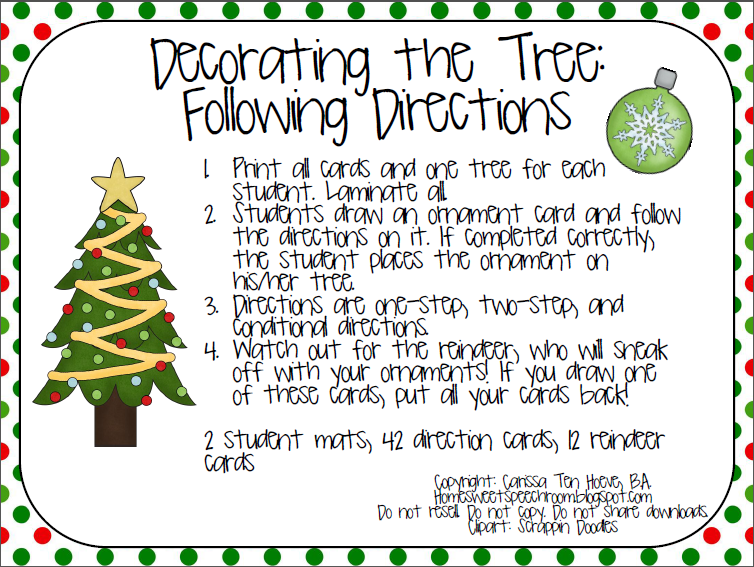 freebie decorating the tree following directions repinned by sos inc resources follow all. Black Bedroom Furniture Sets. Home Design Ideas