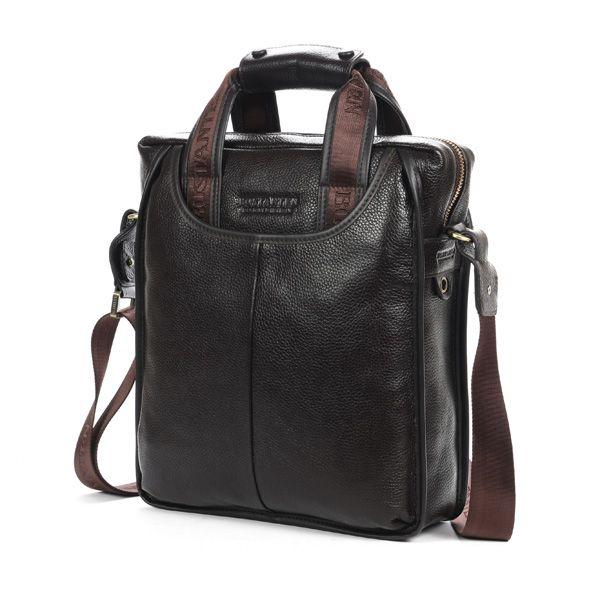 Men/'s Genuine Bostanten Leather Messenger Bag Man Briefcase Laptop Shoulder Bag
