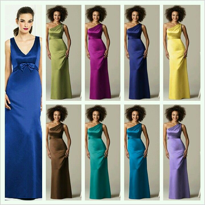 Peacolor Wedding Ideas: Peacock Color Theme Bridesmaid Dresses From Dessy.com