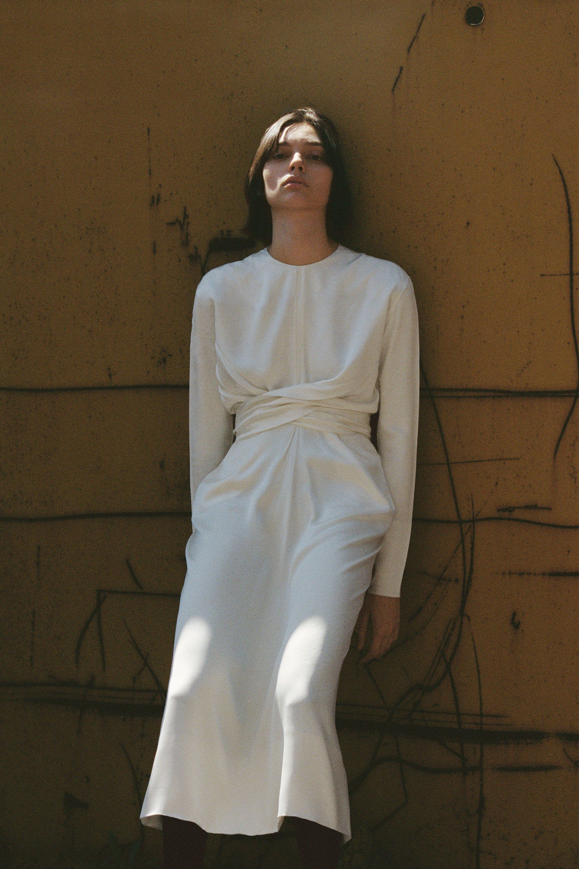 Robe blanc style courreges dress