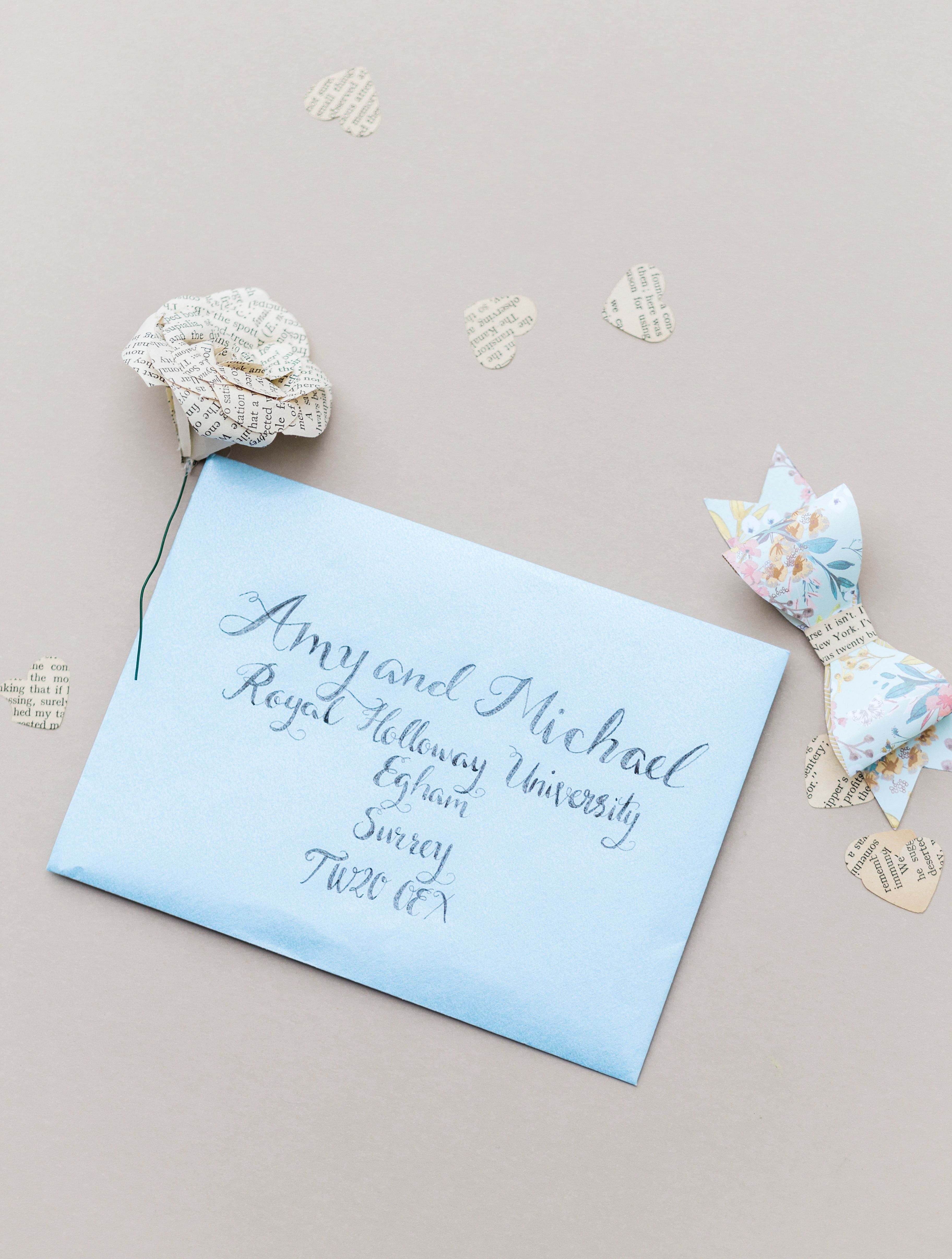 The Amyverse literature / book theme wedding invitation and ...