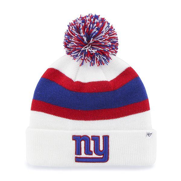 New York Giants Breakaway Cuff Knit White 47 Brand Hat  821ed181b