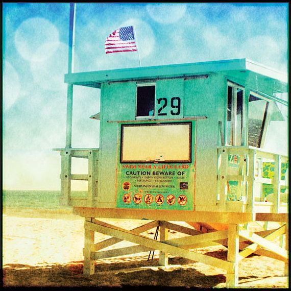 Lifeguard Tower Surf Art Large Canvas Wall Art by LafayettePlace ...