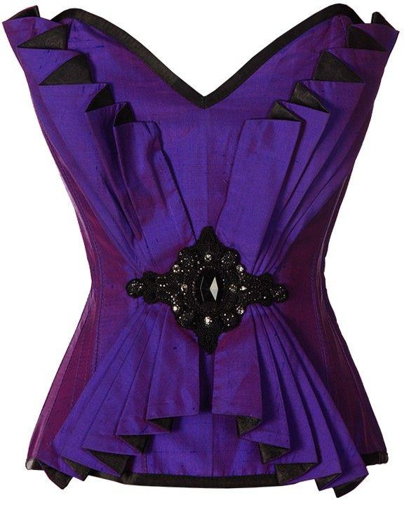 The Violet Vixen - Burlesque Bombshell Deep Purple, $188.18 (http://thevioletvixen.com/corsets/burlesque-bombshell-deep-purple/) Jeweled Raw Silk, steel boned corset. Art Deco, Gatsby, Burlesque, Dancer, Formal, Gorgeous!