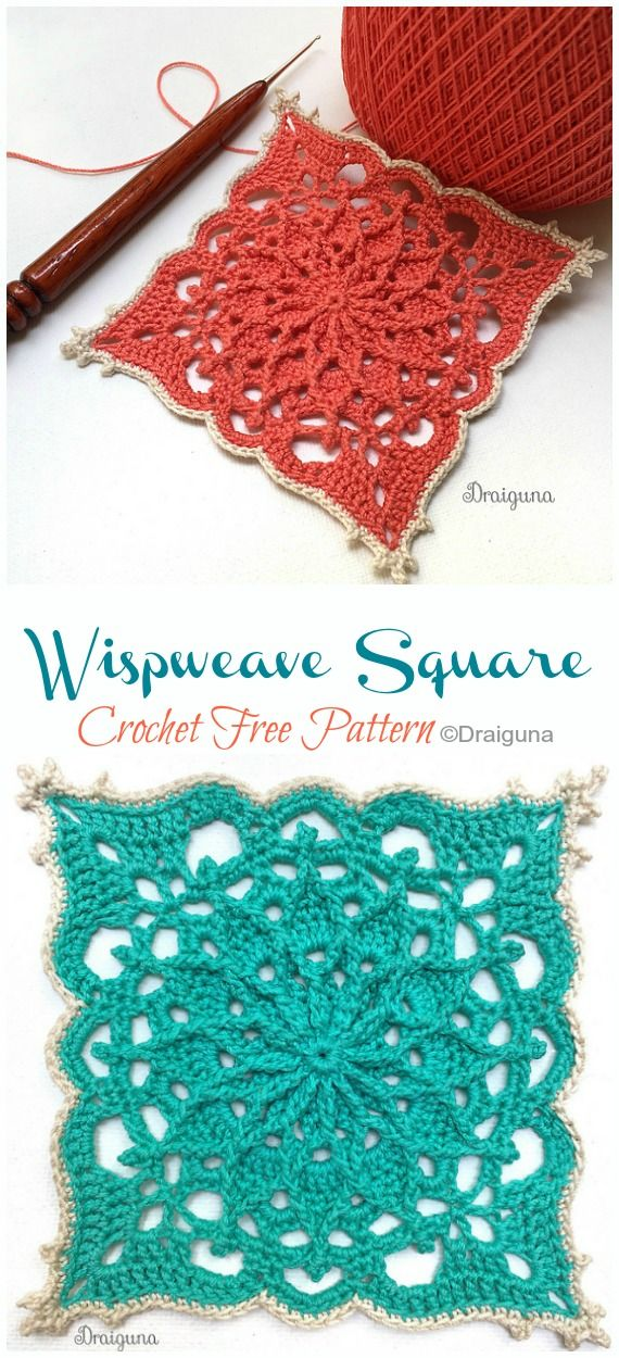 Wispweave Lace Doily Crochet Free Patterns #crochetpatterns